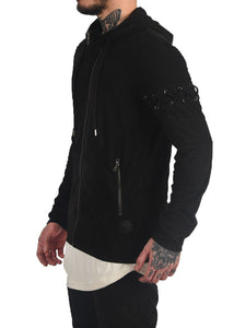 Hoodie lace up effet daim Homme Project X RRStoreOnline