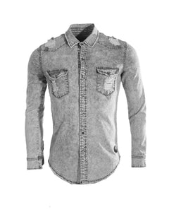 Chemise Manches Longues Grise Project X RRStoreOnline