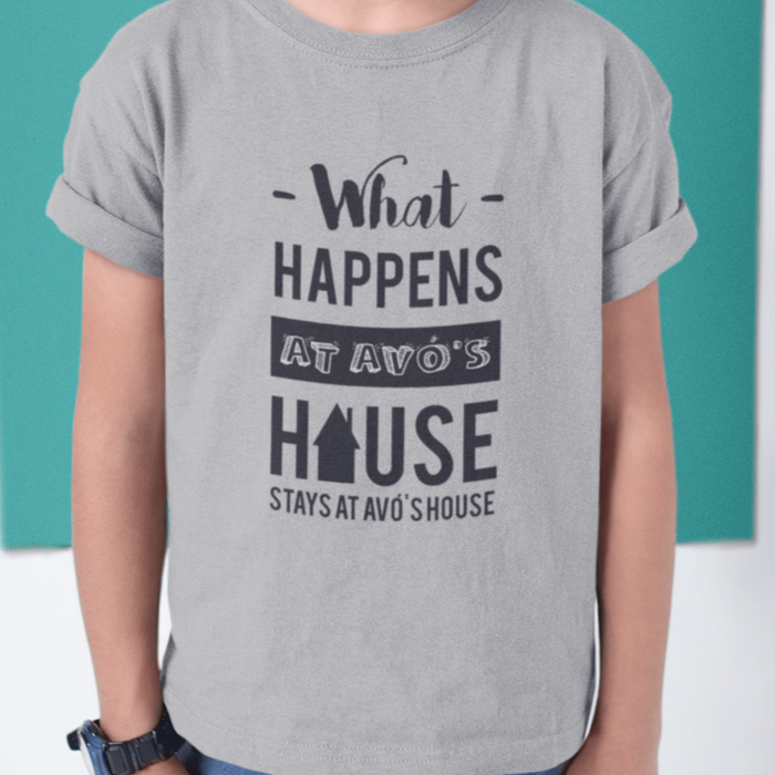Toddler Size What Happens at Avó's House T-Shirt (3T-6T)