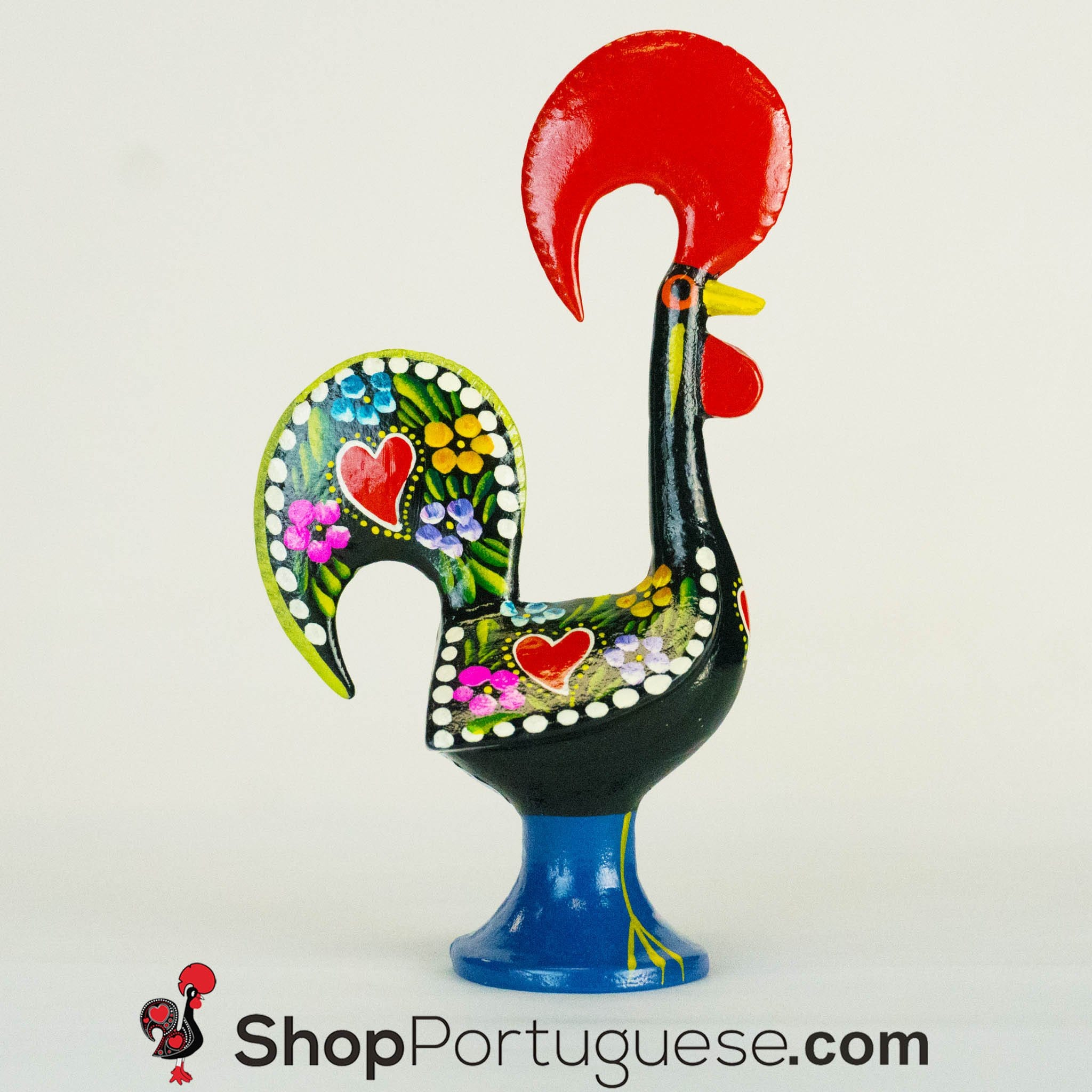 Barcelos Rooster 8 Traditional Figurine Metal Shop Portuguese