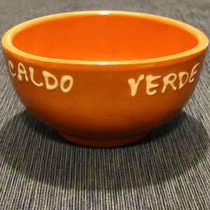 Traditional Portuguese Clay Pottery Caldo Verde Bowl with Saucer (Single Set or Set of 4)
