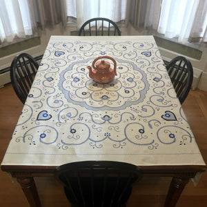 Azulejo Inspired Tablecloth