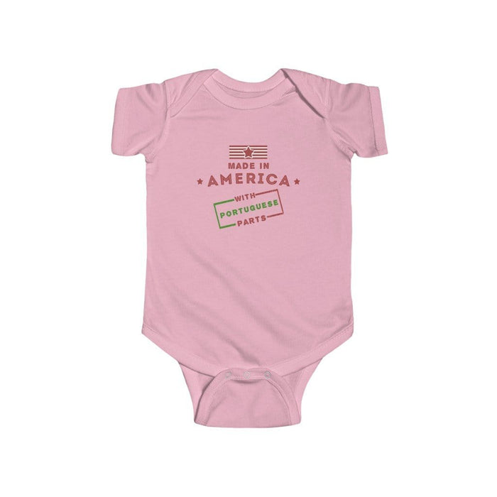 Made in America With Portuguese Parts Onesie