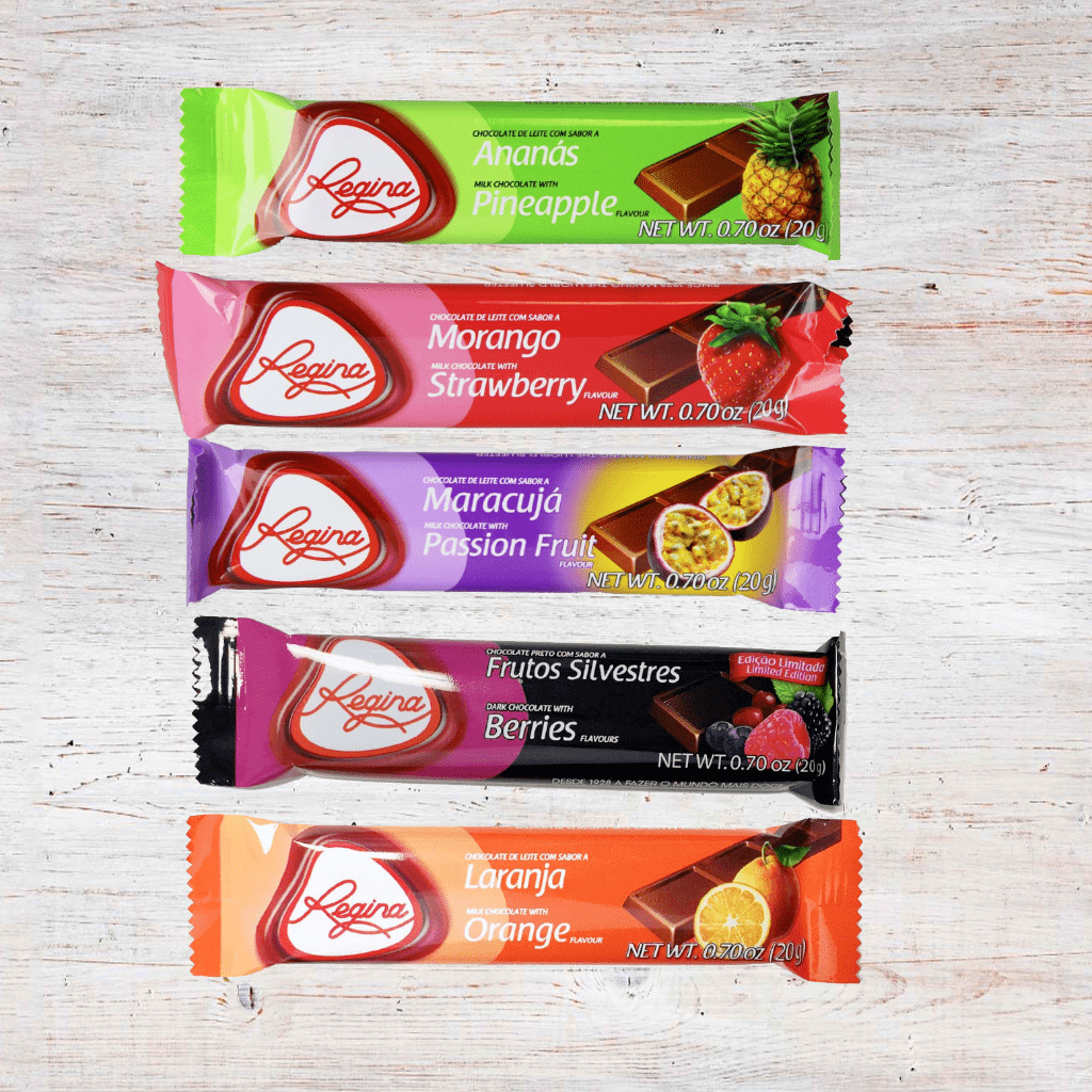 Regina Brand Fruit Flavored Chocolate Bars (Single or Multi-Flavor 5 Pk)