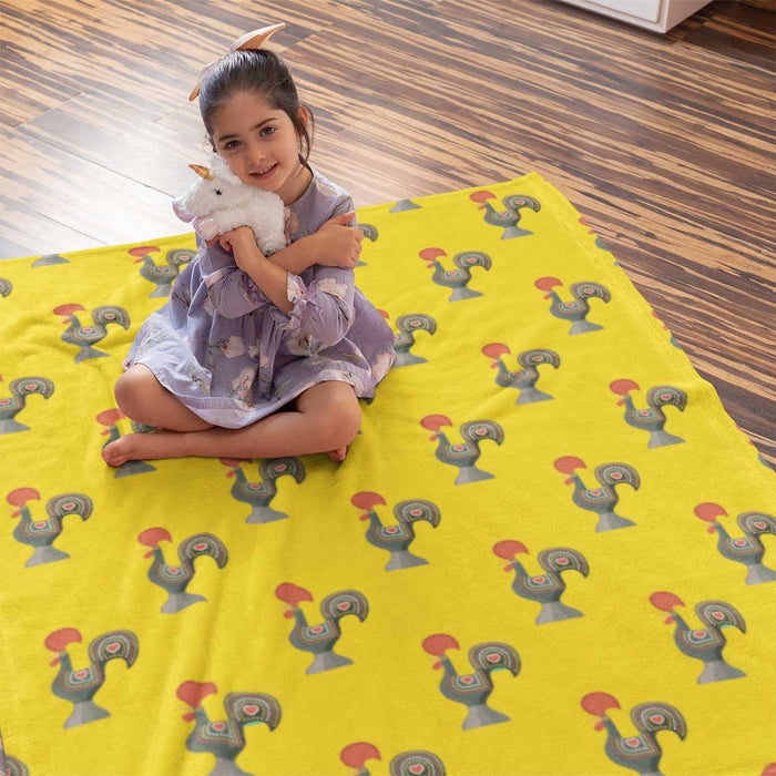 Barcelos Rooster Amerelo Fleece Blanket