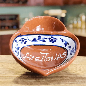 Traditional Portuguese Clay Pottery Olive Bowl