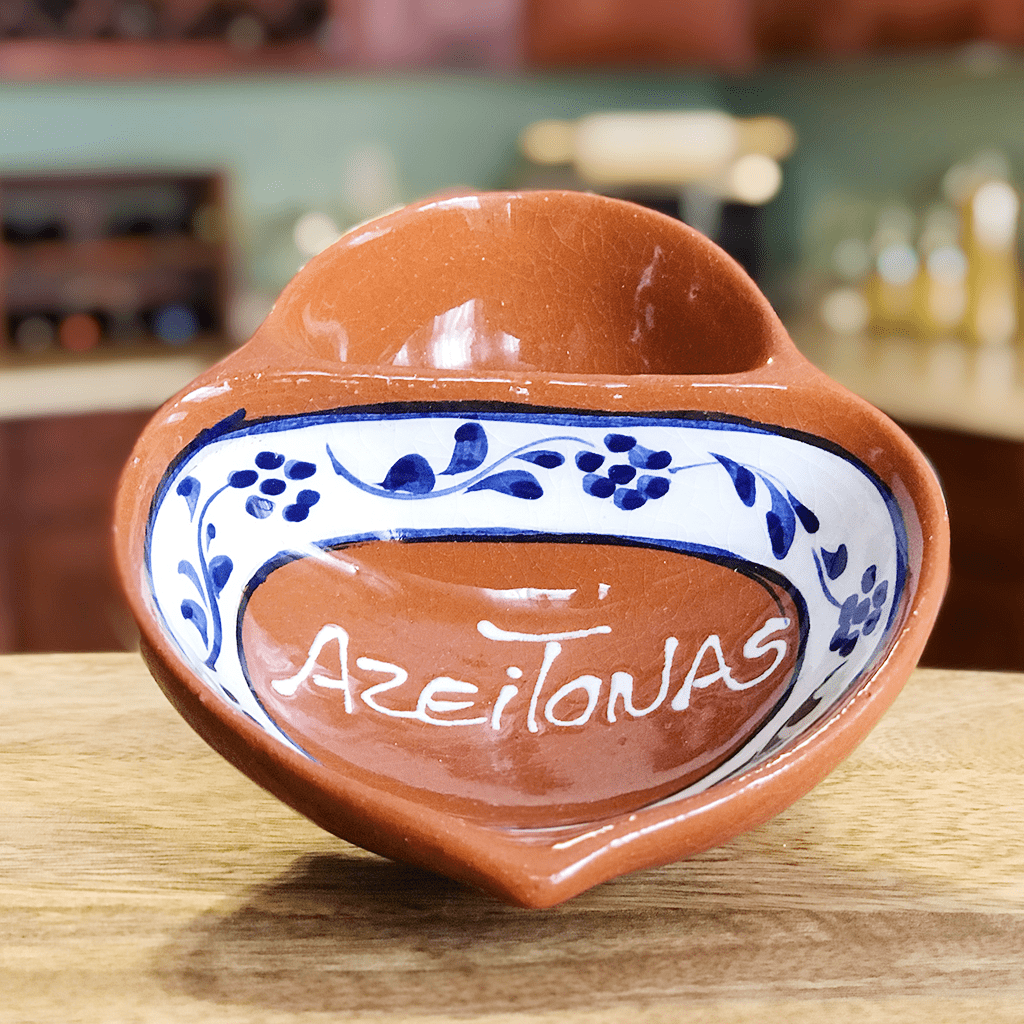 Traditional Portuguese Clay Pottery Olive Bowl (Single or Set of 2)