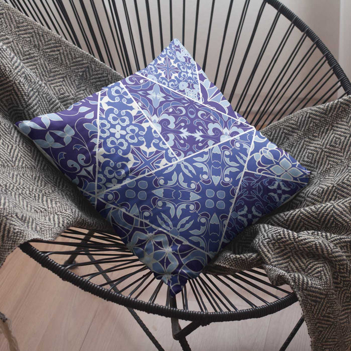Portuguese Tile Mosaic Decorative Pillow