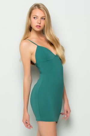 Sleeveless Bodycon Ponte Dress (Jade)