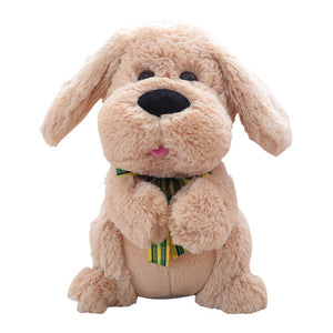 1PCS 28CM Electrical dog applaud Stuffed Animals Singing Baby Music Toys Ears Flaping Move Interactive Doll