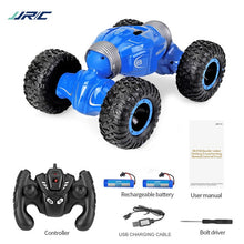 Load image into Gallery viewer, JJRC Q70 2 batteries 4 WD 2.4GHz RC Crawler Car Twister- Double-sided Flip Deformation Climbing RC Car RTR Toy Gift for Kids