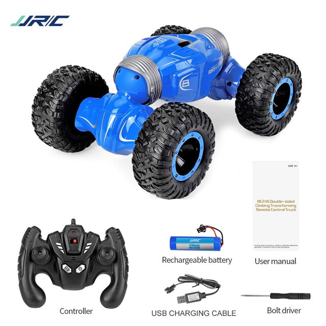 JJRC Q70 2 batteries 4 WD 2.4GHz RC Crawler Car Twister- Double-sided Flip Deformation Climbing RC Car RTR Toy Gift for Kids