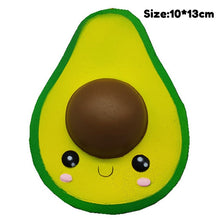 Load image into Gallery viewer, Avocado Squishy fruit package peach watermelon banana lemon squishes slow rising scented squeeze toy educational toys for baby