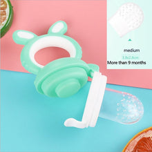 Load image into Gallery viewer, Baby nipple Fresh Food Nibbler Baby Pacifiers Feeder Kids Fruit feeding nipple Safe Supplies Nipple Teat Pacifier Bottles