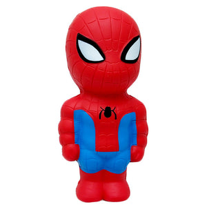 New Cute Super Hero Squishy Spiderman Iron Man Hulk Slow Rising Soft Squeeze Toys Bread Scent Stress Relief for Kid Fun Gift Toy