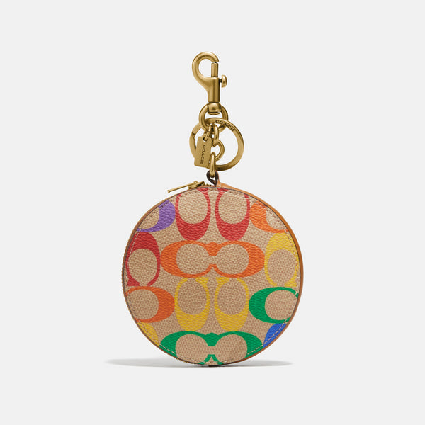 Pride Rainbow Signature Coated Canvas Coin Purse Bag Charm