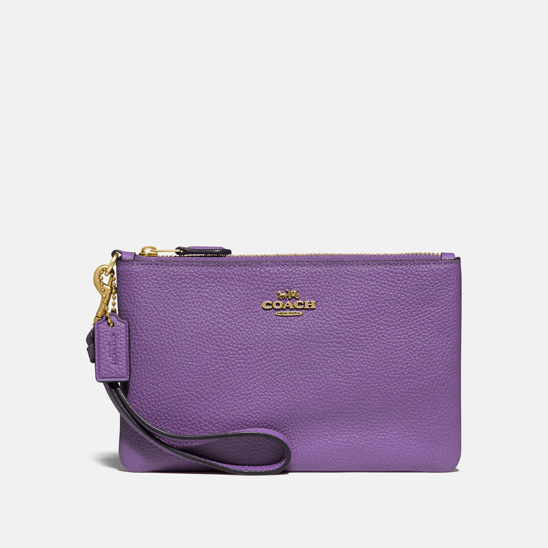 Excl Whls Polished Pebble Small Wristlet