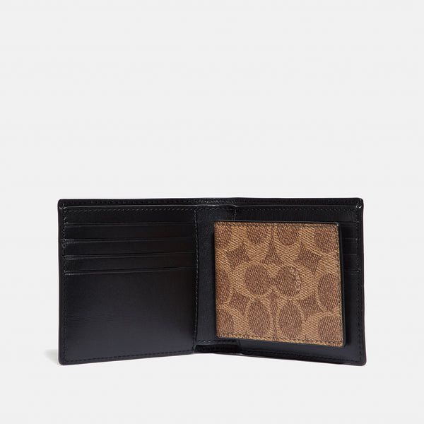 3in1 Wallet In Coated Canvas