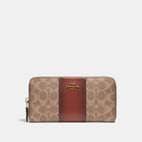 Coach Accordion Zip Wallet In Colorblock Signature Canvas