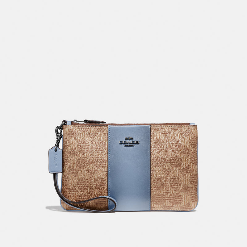 Coach Colorblock Coated Canvas Signature Small Wristlet