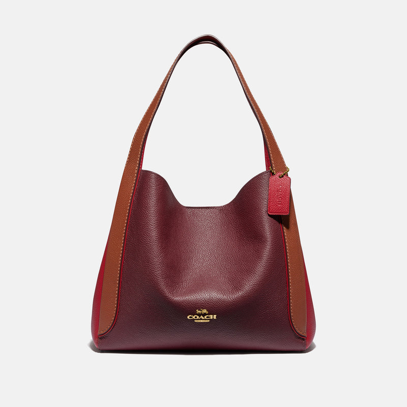 Colorblock Leather Contrast Trim Hadley Hobo