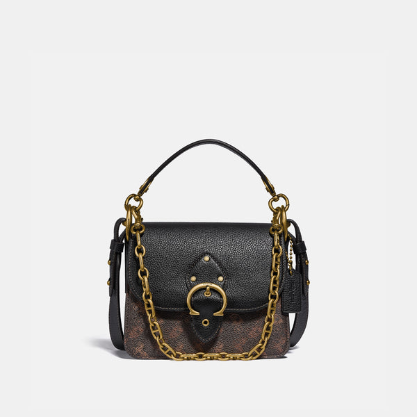 Coach Beat shoulder bag 18 with horse and carriage print