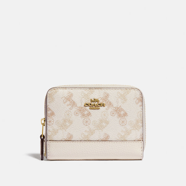 Coach Horse and carriage cc sm zip around wallet