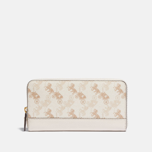 Coach Horse and carriage cc accordion zip
