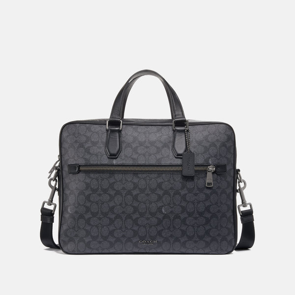 Coach Kennedy Brief 40 In Signature Canvas