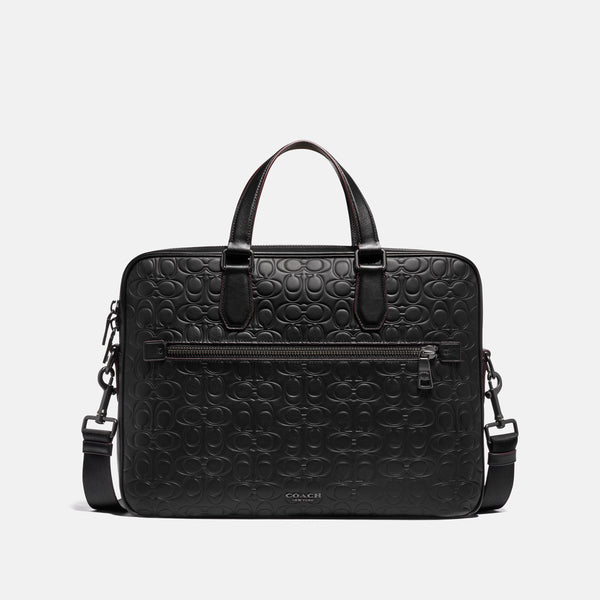 Coach Kennedy Brief 40 In Signature Leather