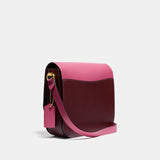 Colorblock Leather Hutton Saddle Bag