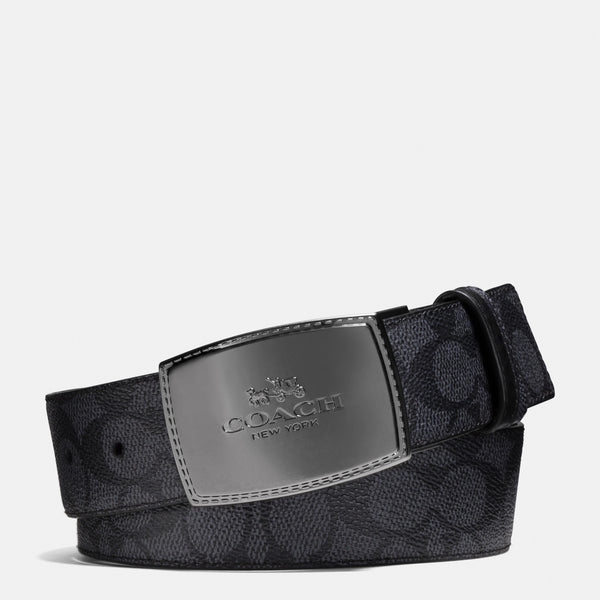 Coach Stitched Plaque Buckle Cut-To-Size Reversible Belt, 38Mm