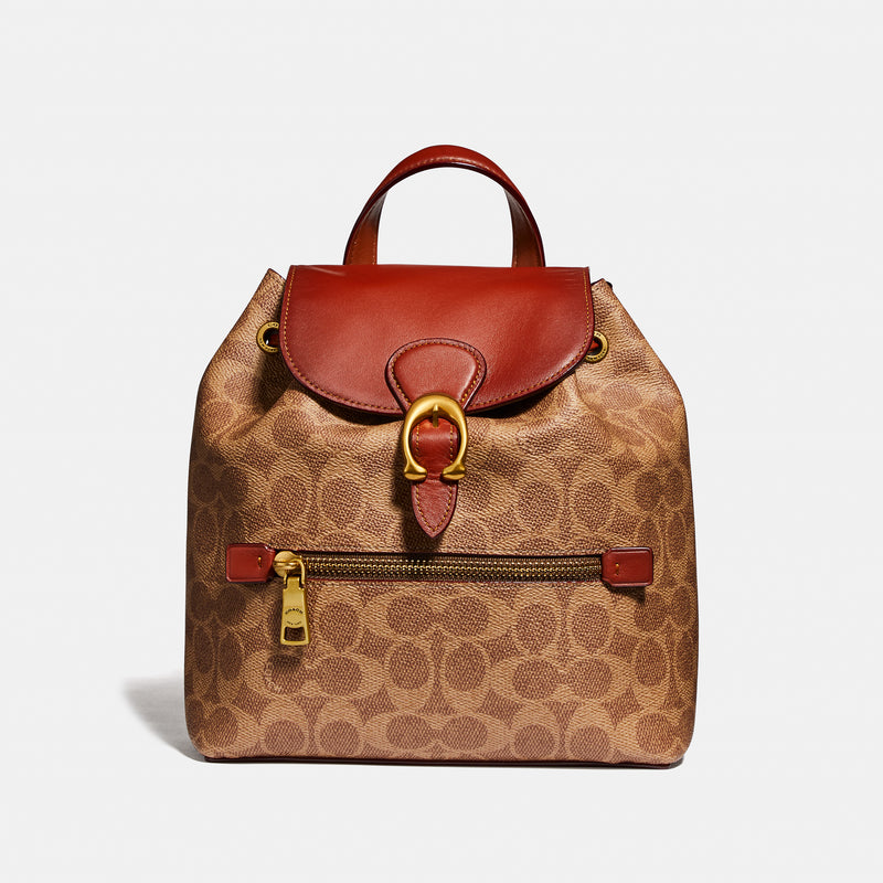 Coach Evie Backpack 22 In Signature Canvas