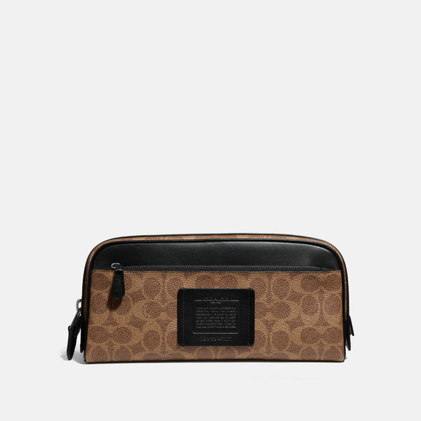 Coach Double Zip Dopp Kit In Signature Canvas