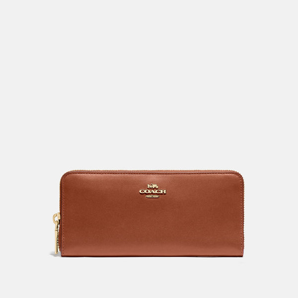 Coach Boxed slim accordion zip wallet