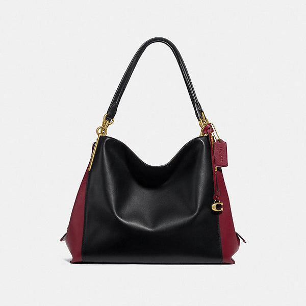 Coach Colorblock mixed leather dalton 31 shoulder Bag