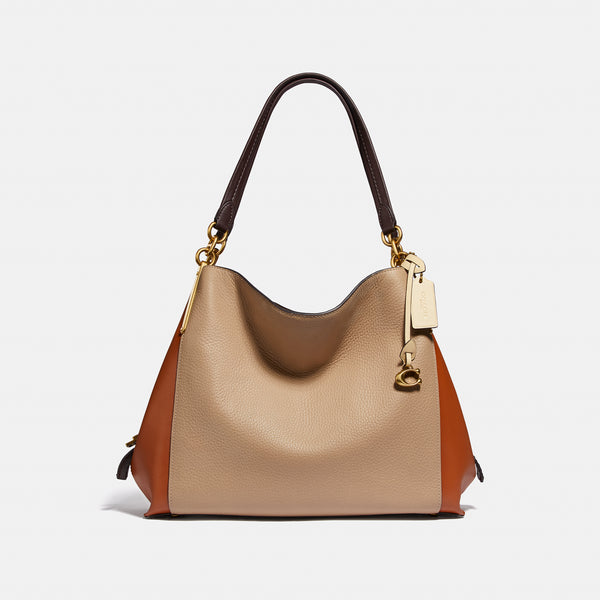 Coach Colorblock mixed leather dalton 31 shoul
