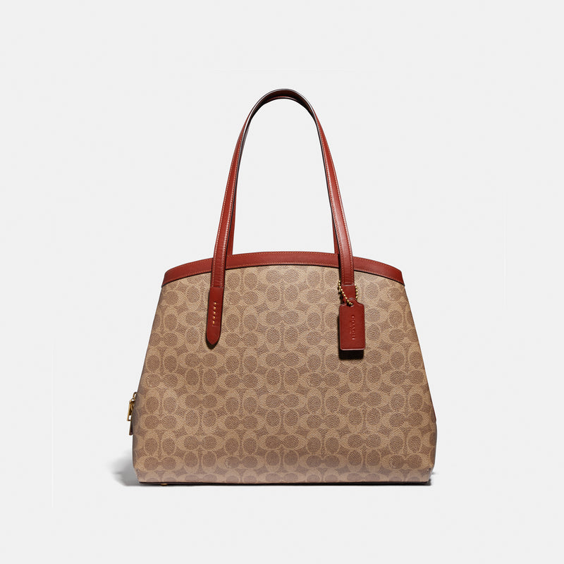 Coach Charlie Carryall 40 In Signature Canvas