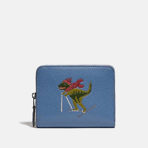 Coach Small Zip Around Wallet With Rexy