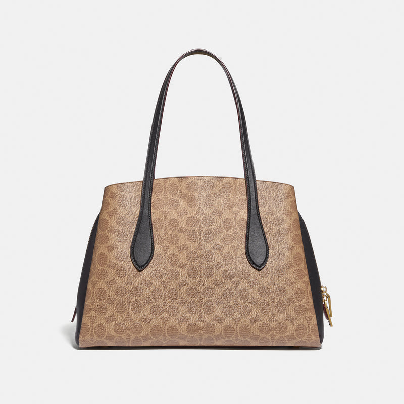 Coach Coated Canvas Signature Colorblock Lora Carryall
