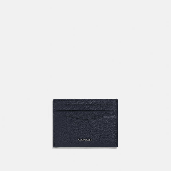 Coach Card Case In Pebble Leather