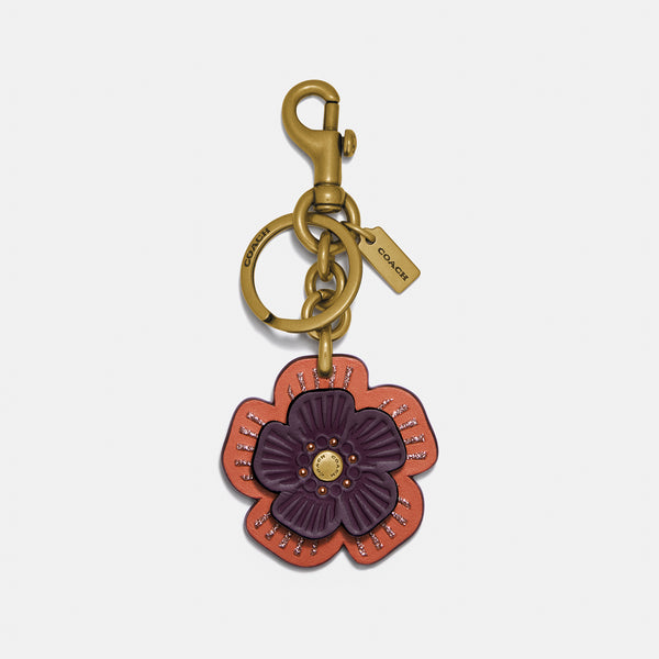 Coach Layered Willow Floral Bag Charm