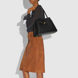 Coach Mixed Leather Lora Carryall