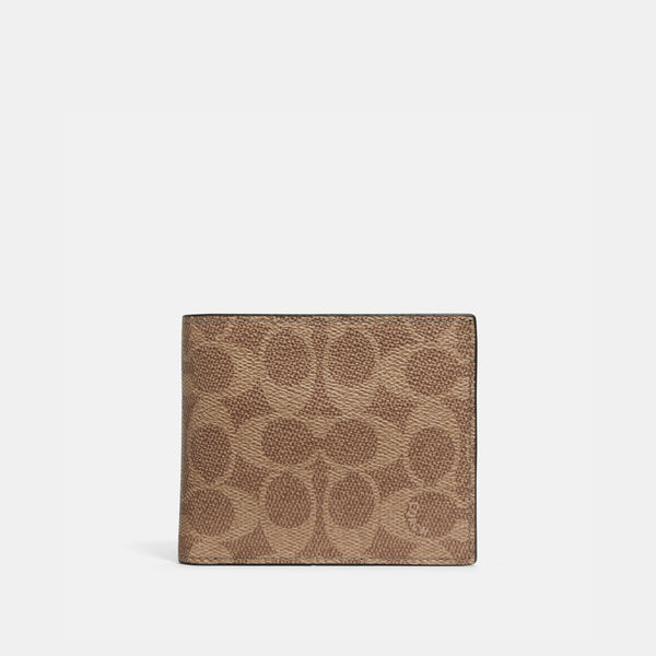 Coach 3-in-1 wallet in signature canvas