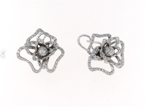 Roberto Coin White Earrings With Diamonds +Rubies