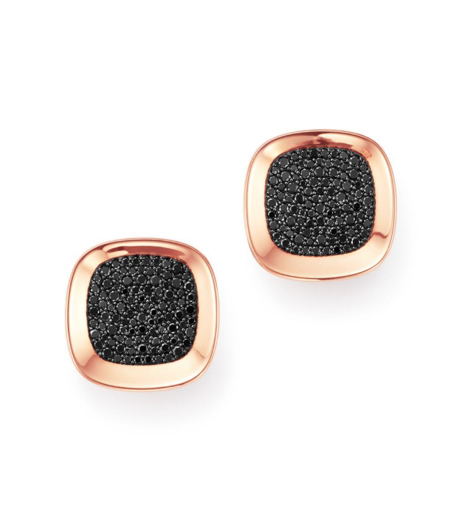Roberto Coin Rb Earrings With Black Diamonds, Ruby
