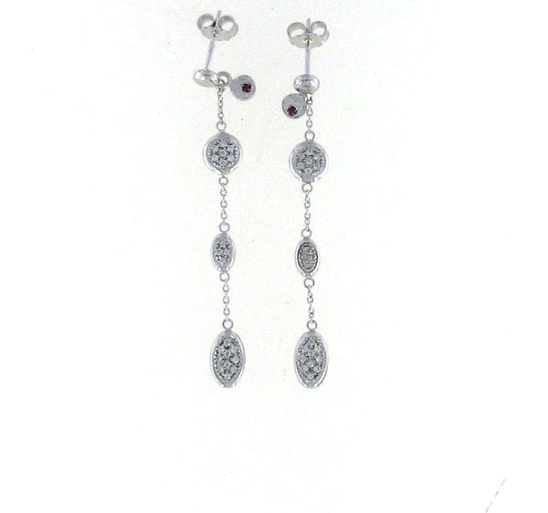 Roberto Coin White Earrings With Diamonds+Rubies