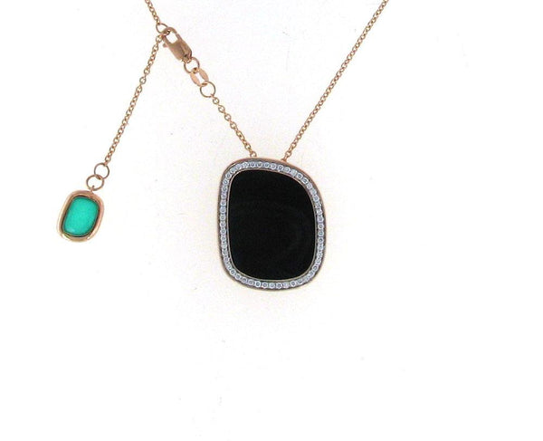 Roberto Coin Black Amphibole  Necklace