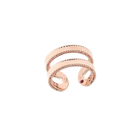 Roberto Coin Rose Ring With Ruby