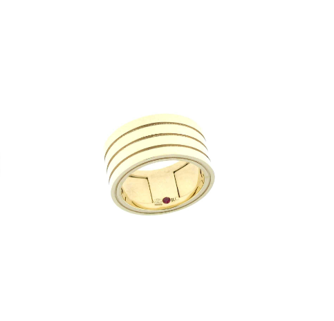 Roberto Coin Yellow Ring With Ruby